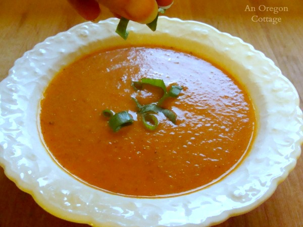 Fresh tomato soup - An Oregon Cottage
