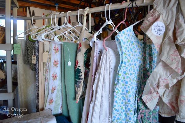 Garage Sale Tips: Use Hangers - An Oregon Cottage