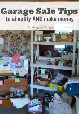 Garage Sale Tips to Simplify and Make Money - An Oregon Cottage