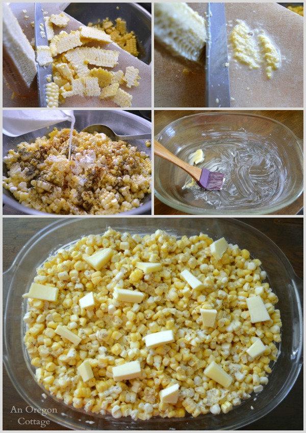 Making Creamy Fresh Baked Corn - An Oregon Cottage