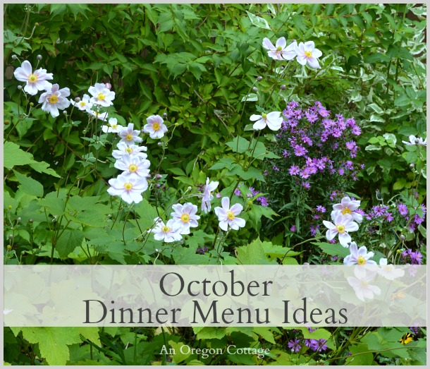 October Dinner Menu Ideas