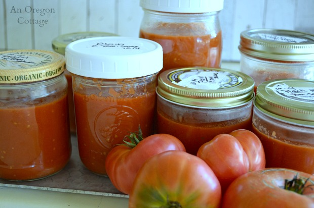 Easy Plain Freezer Roasted Tomato Sauce - An Oregon Cottage