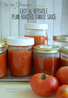 Plain Roasted Tomato Sauce to freeze pin