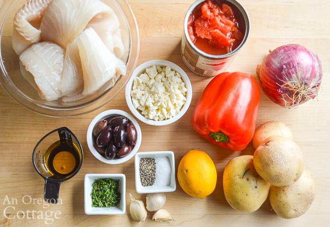 Mediterranean Fish Bake ingredients