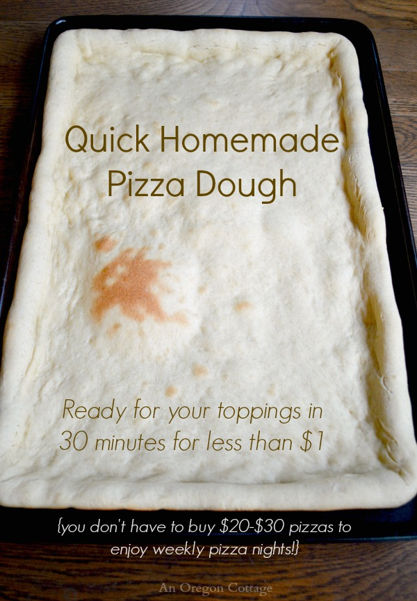 Quick Homemade Pizza Dough In Thirty Minutes for Less Than a Dollar