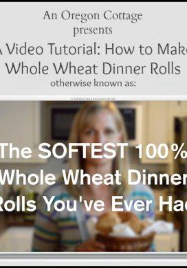 Soft 100% Whole Wheat Rolls Video