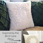 DIY No-Sew Felt Leaf Christmas Wreath Pillow- A Birch Lane Knockoff