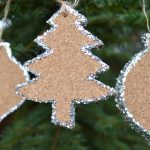 Glittered Cork Christmas Ornaments