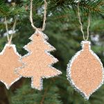 Crate & Barrel Inspired Glittered Cork Ornaments