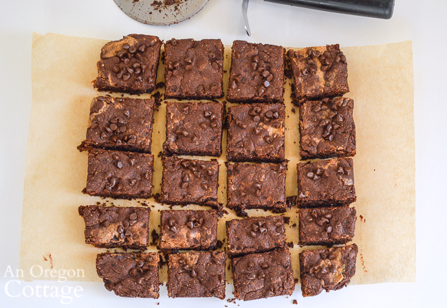 Grain Free Peanut Butter Honey Brownies above