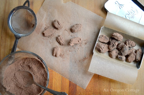 Healthy Homemade Chocolate Covered Pecans in Gift Tin