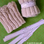 Knitted Scallop-Edged Boot Toppers-Cuffs with Printable Wrap Tags