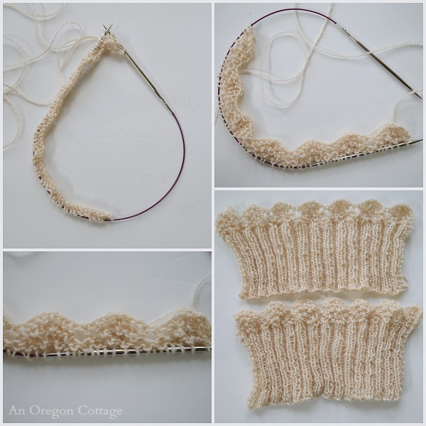 Knitting Scallop-Edged Boot Cuffs-Toppers