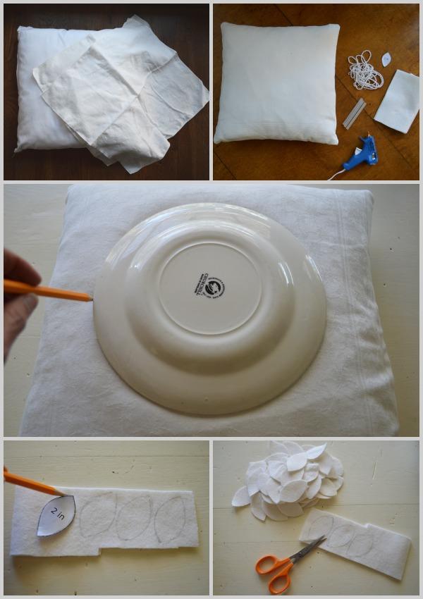 Making No-Sew DIY Felt Wreath Pillow