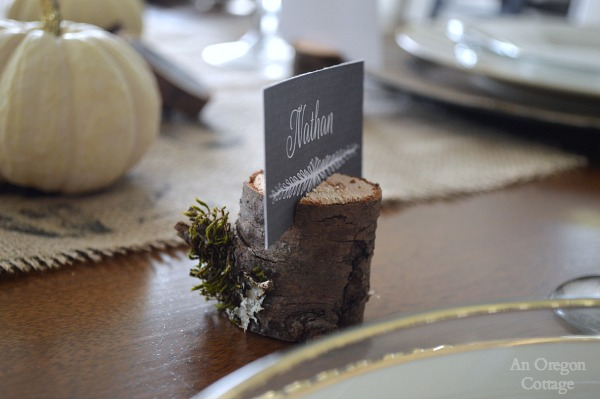 Wood Branch Place Card Holder