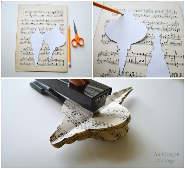3-D Sheet Music Ornaments-Step1