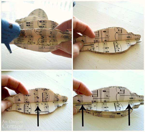 3-D Sheet Music Ornaments-step4