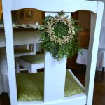 Christmas Wreath Chair Decorations from the Dollar Store are Quick and Easy!