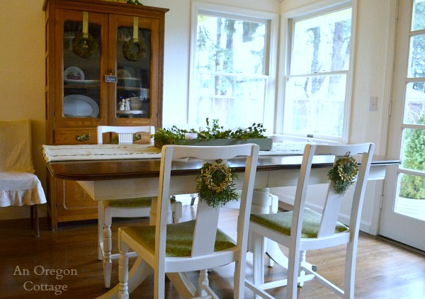 Christmas Wreath Dining Chair Decorations