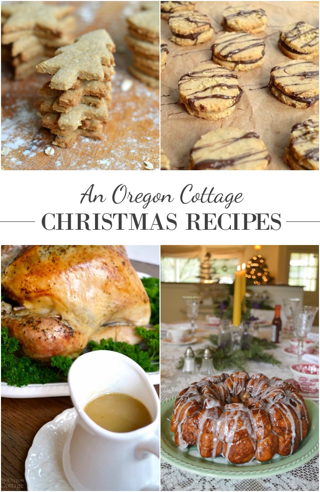 Whole food, easy family Christmas recipes from An Oregon Cottage including cookies and sweets, as well as recipe ideas for dinners and brunches.