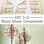 DIY sheet music ornaments