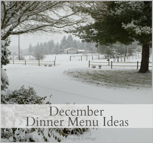 December Dinner Menu Ideas