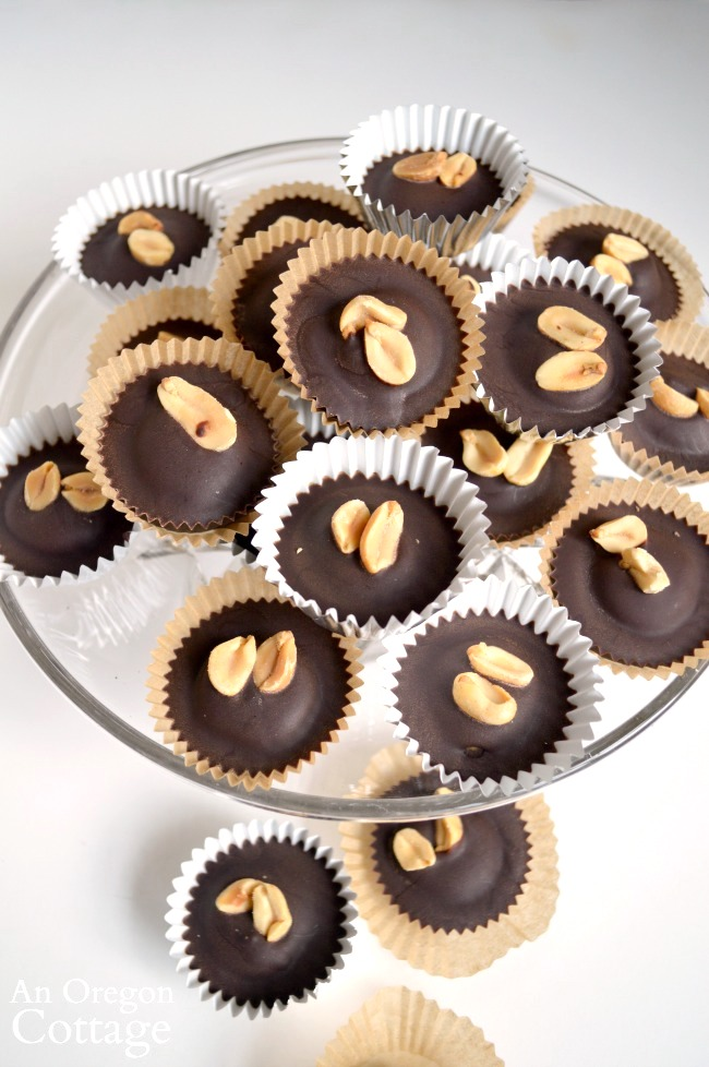 Honey Sweetened PB Chocolate Cups