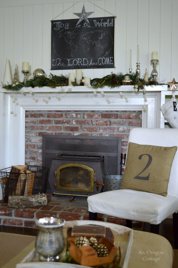 Joy To The World Map Christmas Mantel