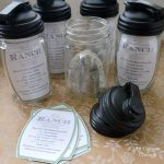 Mason Jar Gift - Ranch Salad Dressing Jar with pop up lid, dressing mix and printable recipe tag