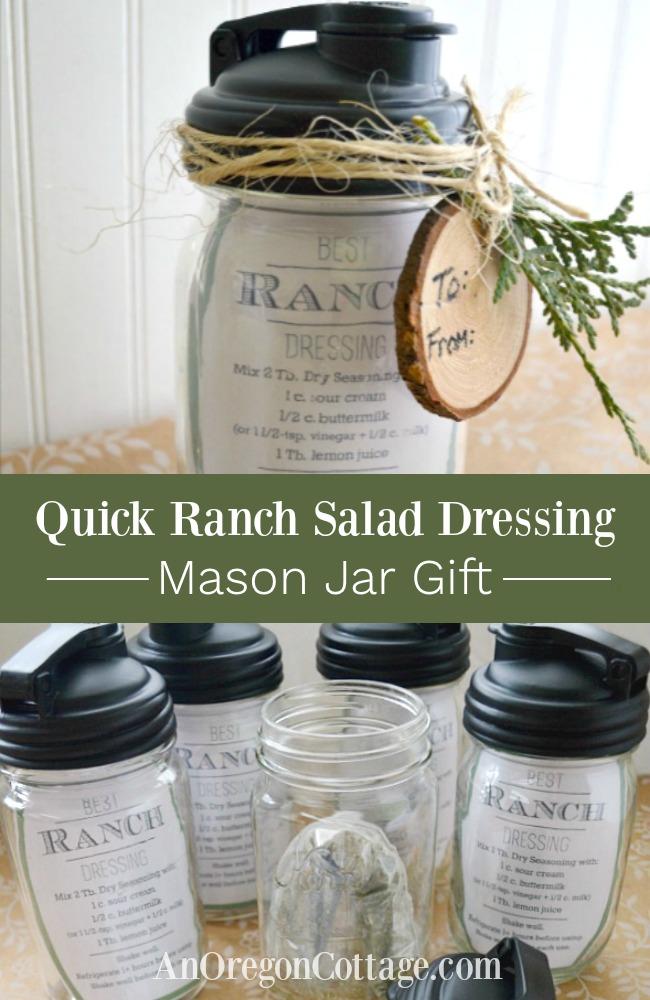 Quick ranch salad dressing mason jar gift