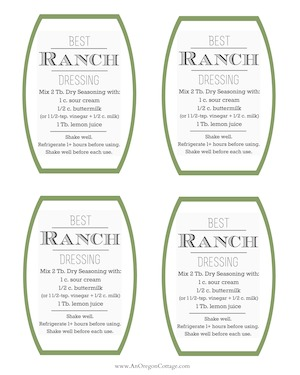 Ranch Dressing Recipe Tags