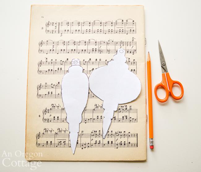 music sheet ornament materials