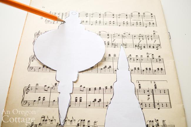 tracing music sheet ornaments