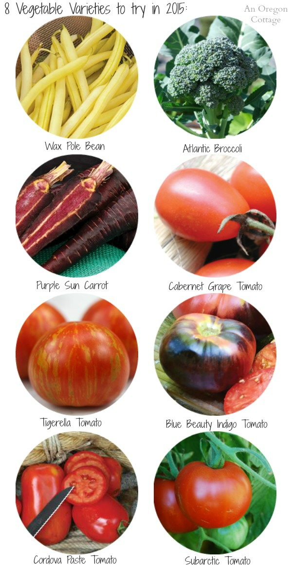 8 Vegetable Varieties to Try in 2015