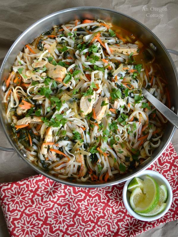 Big Pot Sriracha Chicken-Vegetable Noodle Bowl