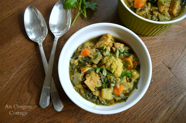 Slow cooker Chicken, Vegetable and Lentil Curry - have a one pot dinner waiting for you when you get home.