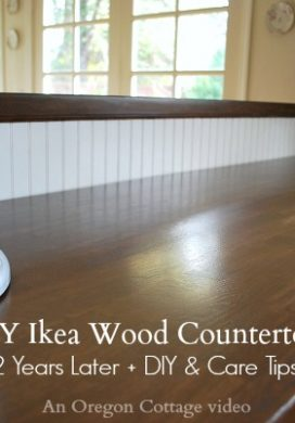 DIY Ikea Wood Countertops- 2 years later + care tips