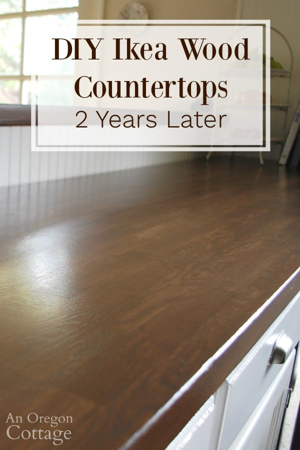 DIY Wood Counters-2 Years Later