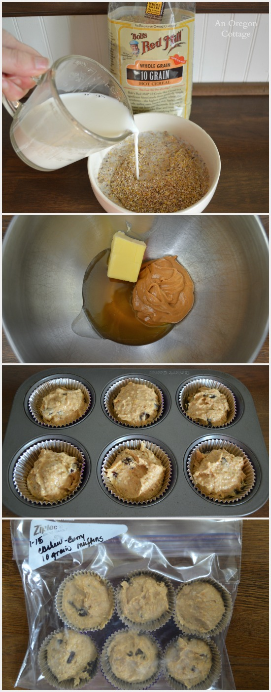 Freeze-and-Bake 10 Grain Berry and Nut Muffins