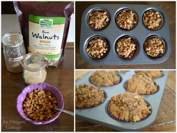 Freezer-Friendly Make Ahead Berry Nut Muffins with Walnut Streusel Topping