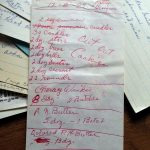 Grandma's Christmas Cookie List