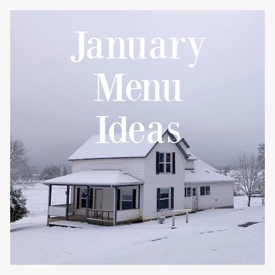 January dinner ideas-snowy farmhouse