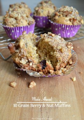 Make Ahead 10 Grain Berry and Nut Muffins
