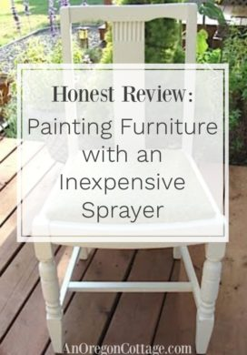 Review-painting furniture with sprayer