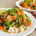Sriracha Chicken Noodle Bowls close