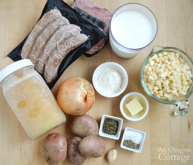 corn sausage chowder ingredients