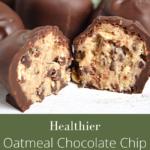 healthier oatmeal chocolate chip cookie dough truffles