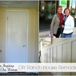 An Inspiring One Woman DIY Ranch House Remodel - what one woman has done with paint, a few tools, Pinterest, and lots of imagination.