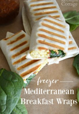 Freezer Mediterranean Breakfast Wraps