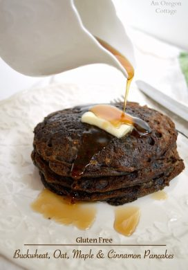 Gluten Free Buckwheat-Oat Maple and Cinnamon Pancakes